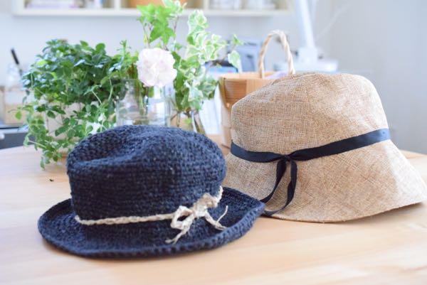 骨格診断 ウィンターナチュラル、夏の帽子の選び方。私は黒いヘンプハットを選びました。[フレイム・ファッション]