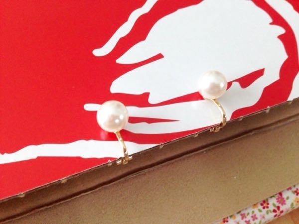 クリスタルパールのイヤリング