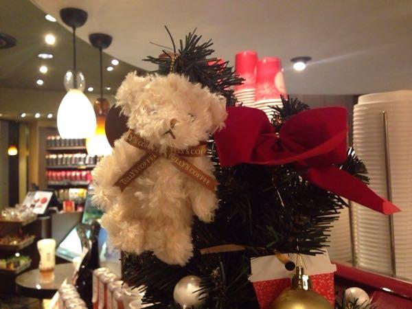 タリーズコーヒーのクリスマスツリー