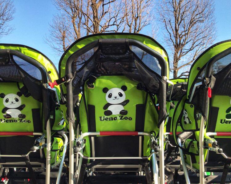 上野動物園 貸出用ベビーカーが新しくなりました。