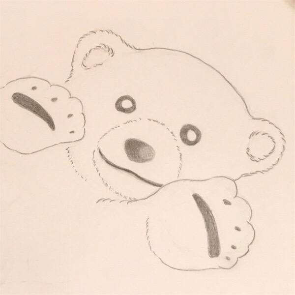 クヌートを描いてみました。飼育員さんに甘え慕う姿がとても可愛かった、ホッキョクグマの子。今でも大好きです!