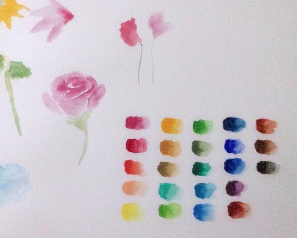 ホルベインの透明水彩絵の具を購入。色んな技法にチャレンジしてみたい!4/100blogs